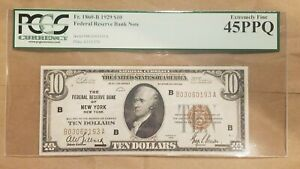 Click now to see the BUY IT NOW Price! 1929 $10 FEDERAL RESERVE BANK NOTE NEW YORK FRBN FR 1860 B PCGS EXTRA FINE 45 EF