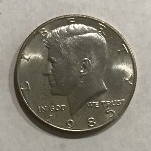 1985 P KENNEDY HALF DOLLAR  UNCIRCULATED FROM MINT CELLO
