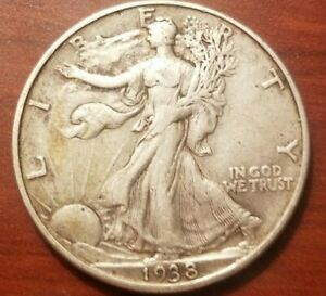 Click now to see the BUY IT NOW Price! 1938 P WALKING LIBERTY HALF DOLLAR SILVER COIN 50 CENTS 50C EXTRA FINE EF XF