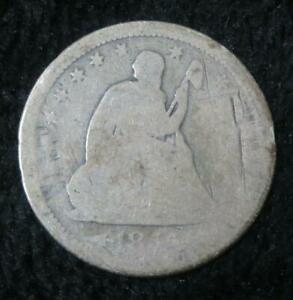 1855 SEATED LIBERTY QUARTER   DAMAGED   90  SILVER   380