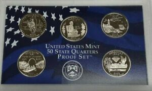 10 PC 5 AVAILABLE COA 2003-S SILVER PROOF SET; STATE QUARTERS; MINT PACKAGED