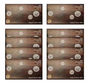 Click now to see the BUY IT NOW Price! 1985 PD US MINT SET 10 PACK  OGP  100 COINS