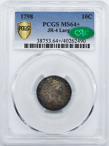 Click now to see the BUY IT NOW Price! 1798 DRAPED BUST 10C PCGS MS 64