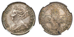 Click now to see the BUY IT NOW Price! GREAT BRITAIN. ANNE 1708 AR SHILLING. NGC MS66 ESC 1399   IN THIS QUALITY.