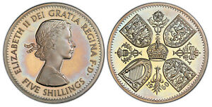 Click now to see the BUY IT NOW Price! BRITAIN ELIZABETH II 1960 CUNI VIP CROWN PCGS PR65 DCAM S 4143 ESC 4338  R4