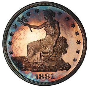 Click now to see the BUY IT NOW Price! 1881 T$1 TRADE DOLLAR PCGS PR67CAM CAC