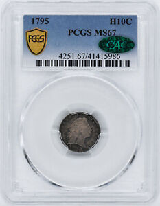 1795 FLOWING HAIR H10C PCGS MS 67