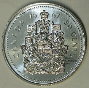 1997 CANADA PROOF LIKE 50 CENTS