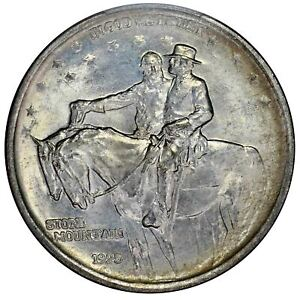 Click now to see the BUY IT NOW Price! STONE MOUNTAIN 1925 50C SILVER COMMEMORATIVE PCGS MS67 CAC