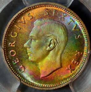 Click now to see the BUY IT NOW Price! PC0011 1952 SOUTH AFRICA 6 PENCE PCGS PR67 STUNNING TONING