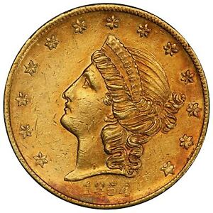 Click now to see the BUY IT NOW Price! 1854 $20 KELLOGG CALIFORNIA GOLD PCGS AU58  CAC