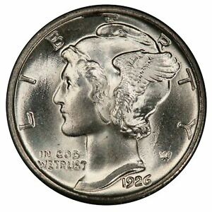 Click now to see the BUY IT NOW Price! 1926 10C MERCURY DIME PCGS MS67 CAC