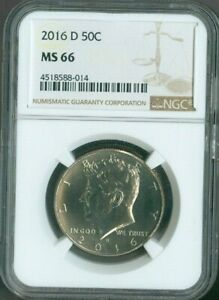 2016 D KENNEDY HALF NGC MS66 50 CENTS QUALITY