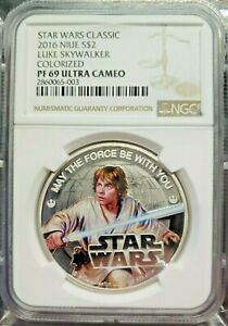 Click now to see the BUY IT NOW Price! 2016 NIUE 1 OZ SILVER $2 STAR WARS 5 COIN SET NGC PF69UC ST OF ALL SW COINS