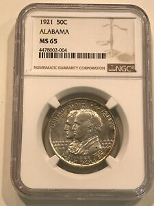 Click now to see the BUY IT NOW Price! 1921 ALABAMA COMMEMORATIVE HALF DOLLAR NGC MS 65 KEY DATE GEM
