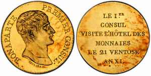 Click now to see the BUY IT NOW Price! FRANCE NAPOLEON I AN XI  1803  AV MEDALLIC ESSAI 5 FRANCS PCGS SP62  MAZARD 629