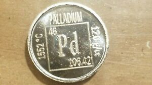Click now to see the BUY IT NOW Price! 1/10 OUNCE PALLADIUM COIN .999 FINE METALLIUM THE ELEMENTS UNC BAR ROUND .1 OZ