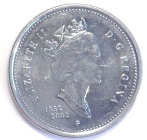 2002 CANADA GOLDEN JUBILEE 25 CENTS COIN