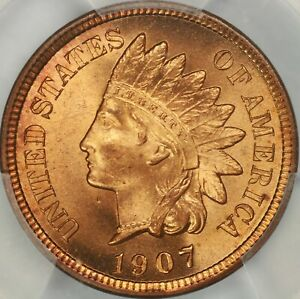1907 INDIAN CENT PCGS MS67RD