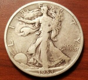 Click now to see the BUY IT NOW Price! 1933 S WALKING LIBERTY HALF DOLLAR SILVER COIN 50 CENTS WALKER 50C NICE