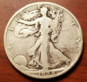 Click now to see the BUY IT NOW Price! 1928 S WALKING LIBERTY HALF DOLLAR SILVER COIN 50 CENTS WALKER 50C