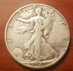 Click now to see the BUY IT NOW Price! 1947 D WALKING LIBERTY HALF DOLLAR SILVER COIN 50 CENTS WALKER 50C NICE