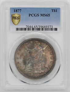 Click now to see the BUY IT NOW Price! 1877 TRADE T$1 PCGS MS 65
