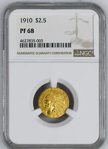 Click now to see the BUY IT NOW Price! 1910 INDIAN $2.5 NGC PR 68
