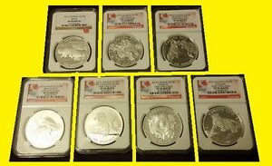 Click now to see the BUY IT NOW Price! 2013 2016 CANADA $100 SILVER GRIZZLYEAGLEBIGHORNMUSKOXCOUGARHORSE NGC PF70