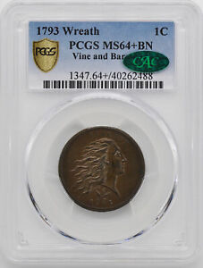 Click now to see the BUY IT NOW Price! 1793 WREATH 1C PCGS MS 64  BN