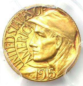 1915 S PANAMA PACIFIC GOLD DOLLAR G$1 COIN   PCGS UNCIRCULATED DETAILS  UNC MS