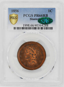 Click now to see the BUY IT NOW Price! 1856 BRAIDED HAIR 1C PCGS PR 66 RB