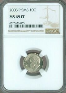 Click now to see the BUY IT NOW Price! 2008 P SMS ROOSEVELT DIME NGC MS 69 FT        QUALITY