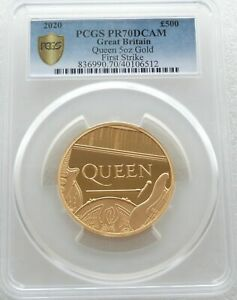 Click now to see the BUY IT NOW Price! 2020 MUSIC LEGENDS QUEEN 500 POUND GOLD PROOF 5OZ COIN PCGS PR70 DCAM FS