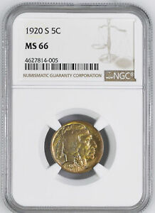Click now to see the BUY IT NOW Price! 1920 S BUFFALO 5C NGC MS 66