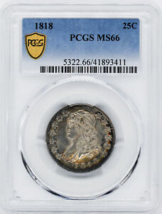 Click now to see the BUY IT NOW Price! 1818 CAPPED BUST 25C PCGS MS 66