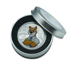 COMMEMORATIVE COIN SHIBA INU DOGE COIN GOLD PLATED BADGE VIRTUAL COIN IN BOX