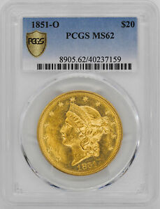 Click now to see the BUY IT NOW Price! 1851 O LIBERTY HEAD $20 PCGS MS 62