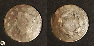 1816 CORONET HEAD LARGE CENT LOW GRADE FILLER SEE PICS FOR DETAILS :