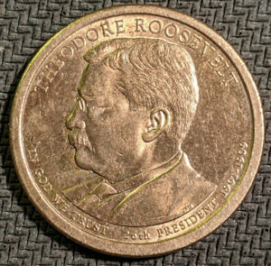 THEODORE ROOSEVELT   2013 P PRESIDENTIAL DOLLAR COIN