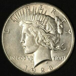 1928 PEACE DOLLAR   SERIES KEY WITH DATE DOUBLING    USA