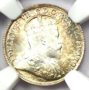 1902 CANADA EDWARD 5 CENT COIN 5C   CERTIFIED NGC MS67  GEM BU     IN MS67
