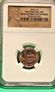 2009 LINCOLN BICENTENNIAL CENT PROFESSIONAL LIFE   NGC MS 66 RD   FDOI