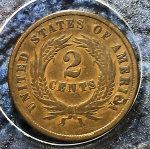 1864 2C TWO CENT PIECE   SMALL MOTTO   KEY DATE VARIETY   EXCELLENT STRIKE