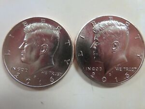 2016 P AND D KENNEDY HALF DOLLARS UNCIRCULATED FROM MINT BAGS/ROLLS