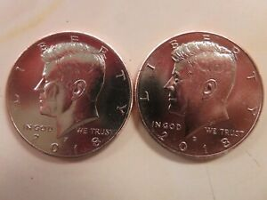 2018 P AND D KENNEDY HALF DOLLARS UNCIRCULATED FROM MINT BAGS/ROLLS