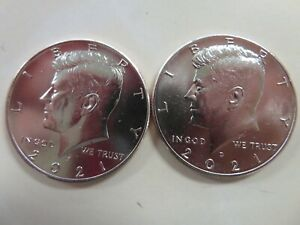 2021 P AND D KENNEDY HALF DOLLARS UNCIRCULATED FROM MINT BAGS/ROLLS