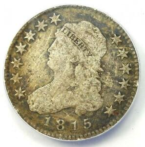 1815 CAPPED BUST QUARTER 25C   ANACS F12 DETAILS    COIN    DATE