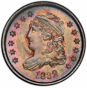 Click now to see the BUY IT NOW Price! 1832 H10C CAPPED BUST HALF DIME PCGS MS66  CAC