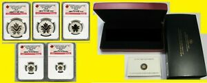 Click now to see the BUY IT NOW Price! 2013 CANADA SILVER MAPLE 5 COINS SET NGC PF 70 UC 25TH ANN MAPLE LABEL BOX COA